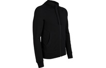 Icebreaker Quattro sweat Homme LS, Zip, Hood, BF260 noir